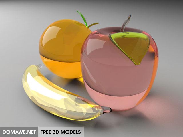 DOMAWE net: Crystal Fruits 3D Model Free Download