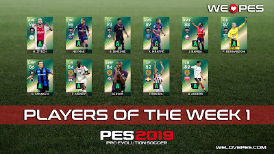 Players of the Week 1 | POTW 1 | PES 2019