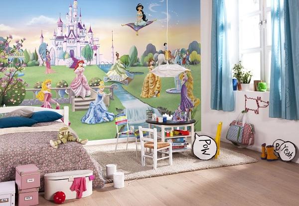 Disney tapetti Prinsessa valokuvatapetti lapsia lastenhuone tapetti
