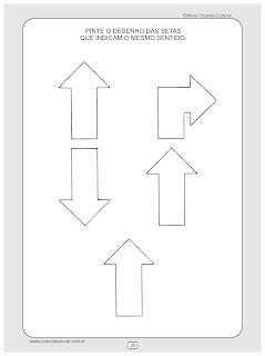 atividades matematica setas direcao