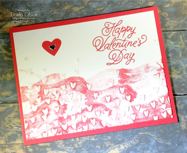 Valentine's Day Card created with Sealed With Love shared by Darla Olson at Inkheaven