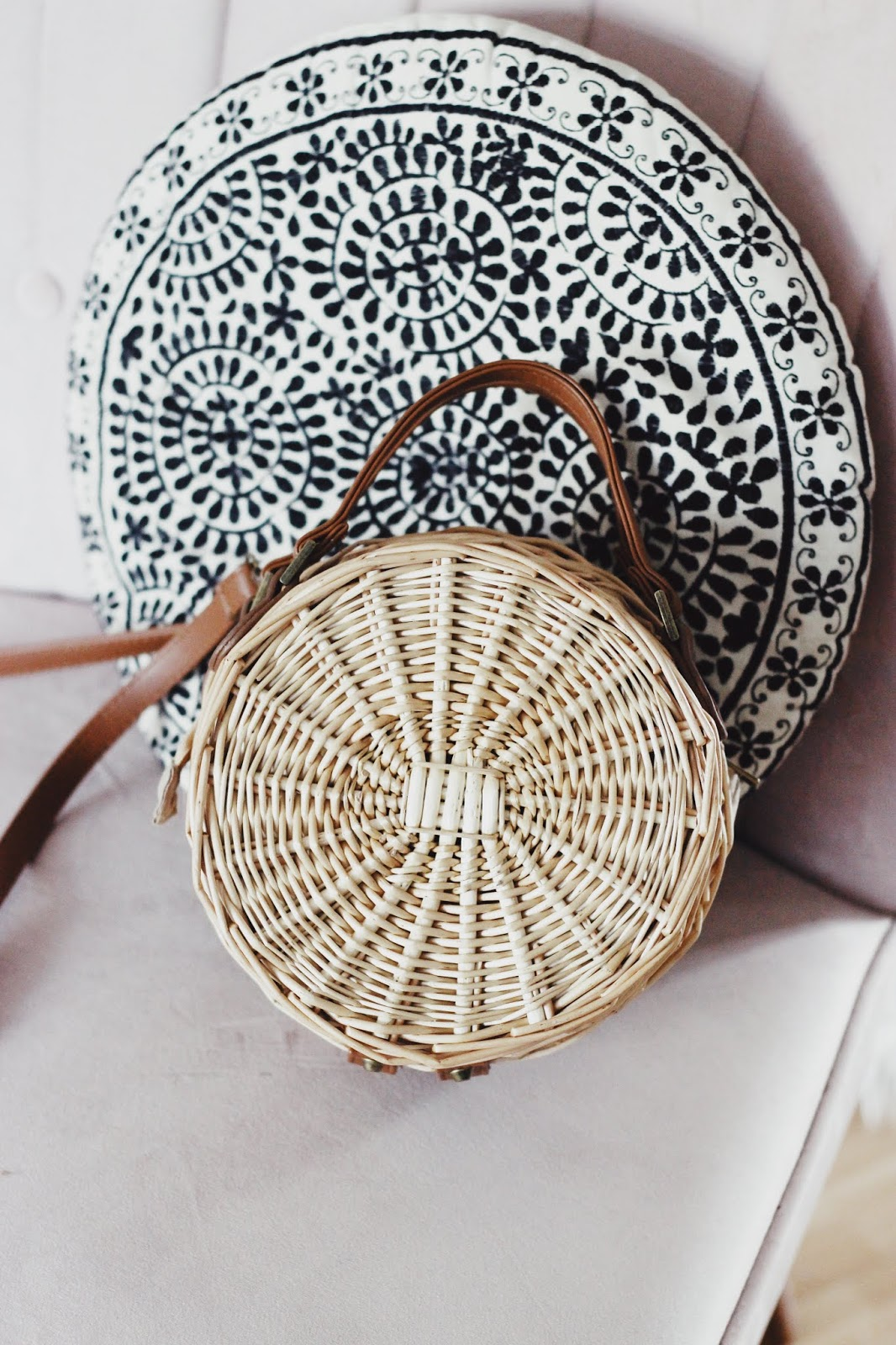 Top Straw Round Basket Bags Under £50