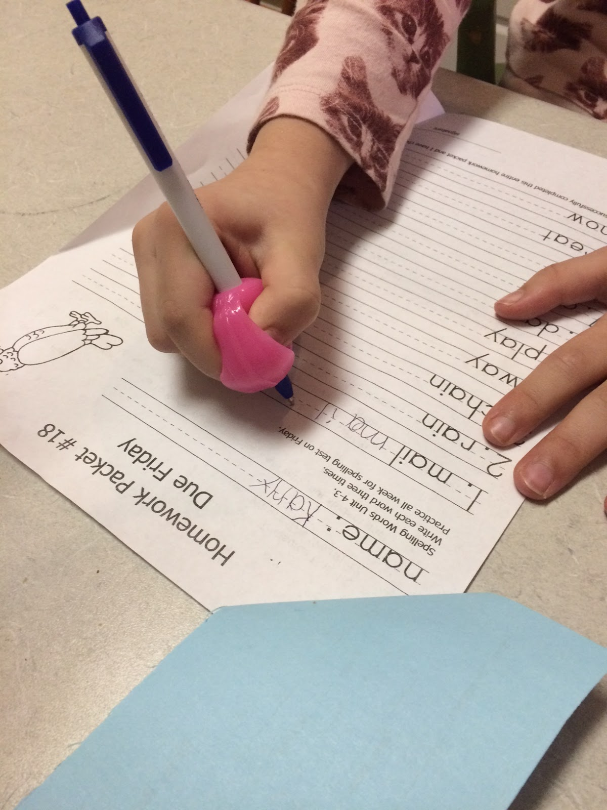 help with handwriting There are several different types of handwriting aids you can implement to help your child learn how to have better handwriting skills.