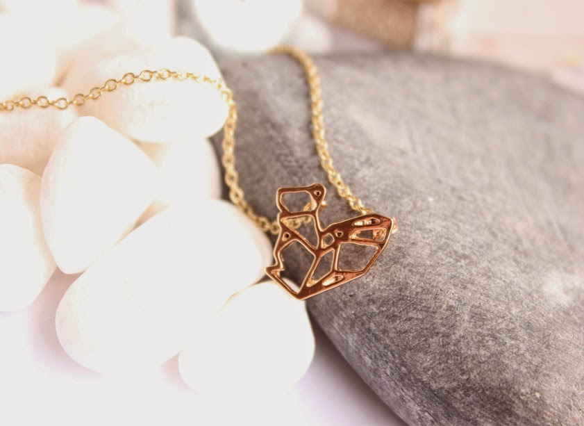 collier origami pas cher