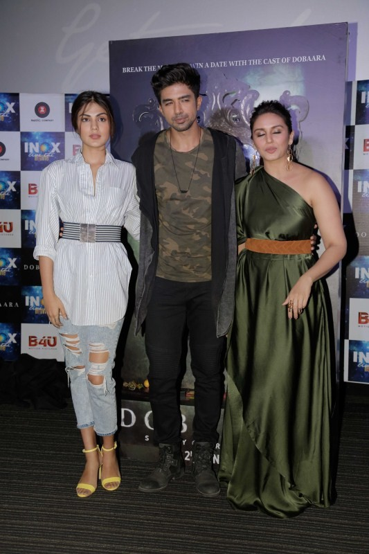 Saqib Saleem, Rhea Chakraborty and Huma at Kari Kari Song Launch from Dobaara