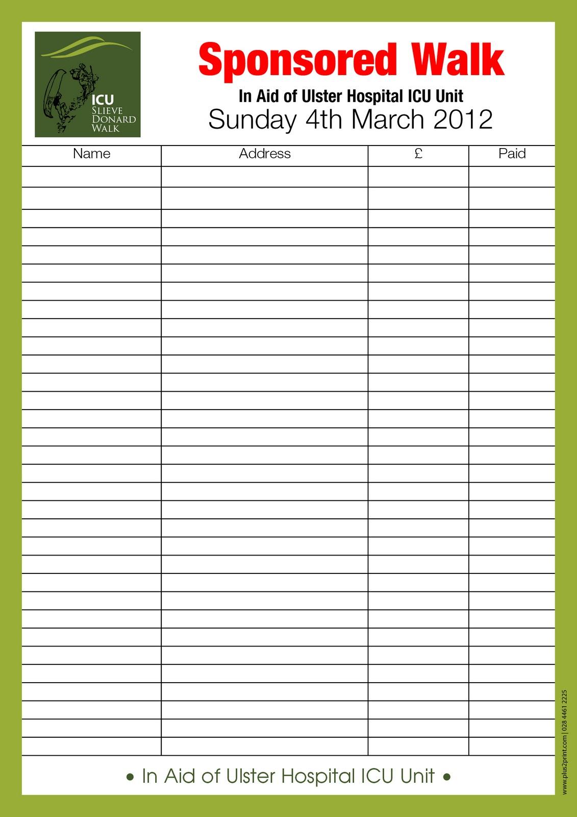 Sponsorship Letter For Charity Event – Blank Sponsorship Forms