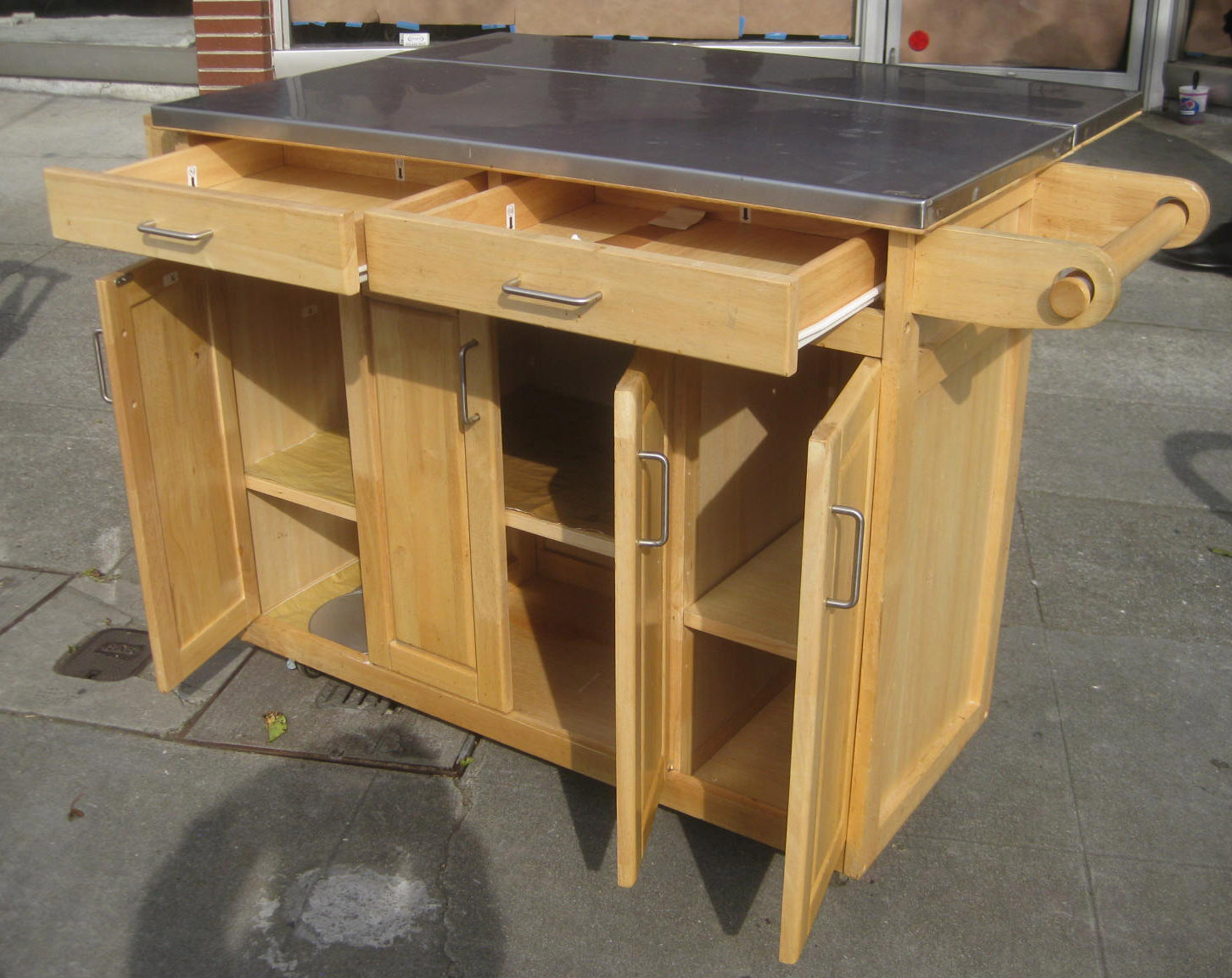 Kitchen Mobile Island Cabinets Pittsburgh Uhuru Furniture And Collectibles Sold
