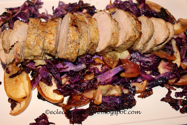 Eclectic Red Barn: Dijon Pork with Apples and Cabbage