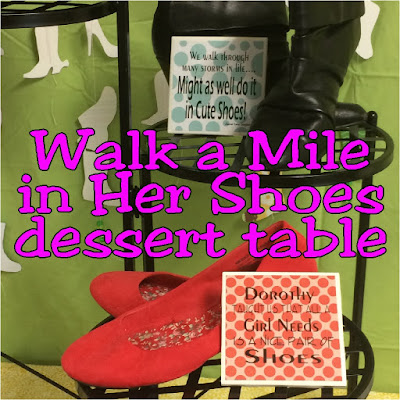 Get to know your friends with a fun activity where you'll Walk a Mile in Her Shoes. This easy and cute dessert table will be the perfect addition to your love of shoes and your love of your girlfriends.