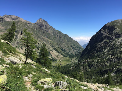 View down on Pian del Valasco