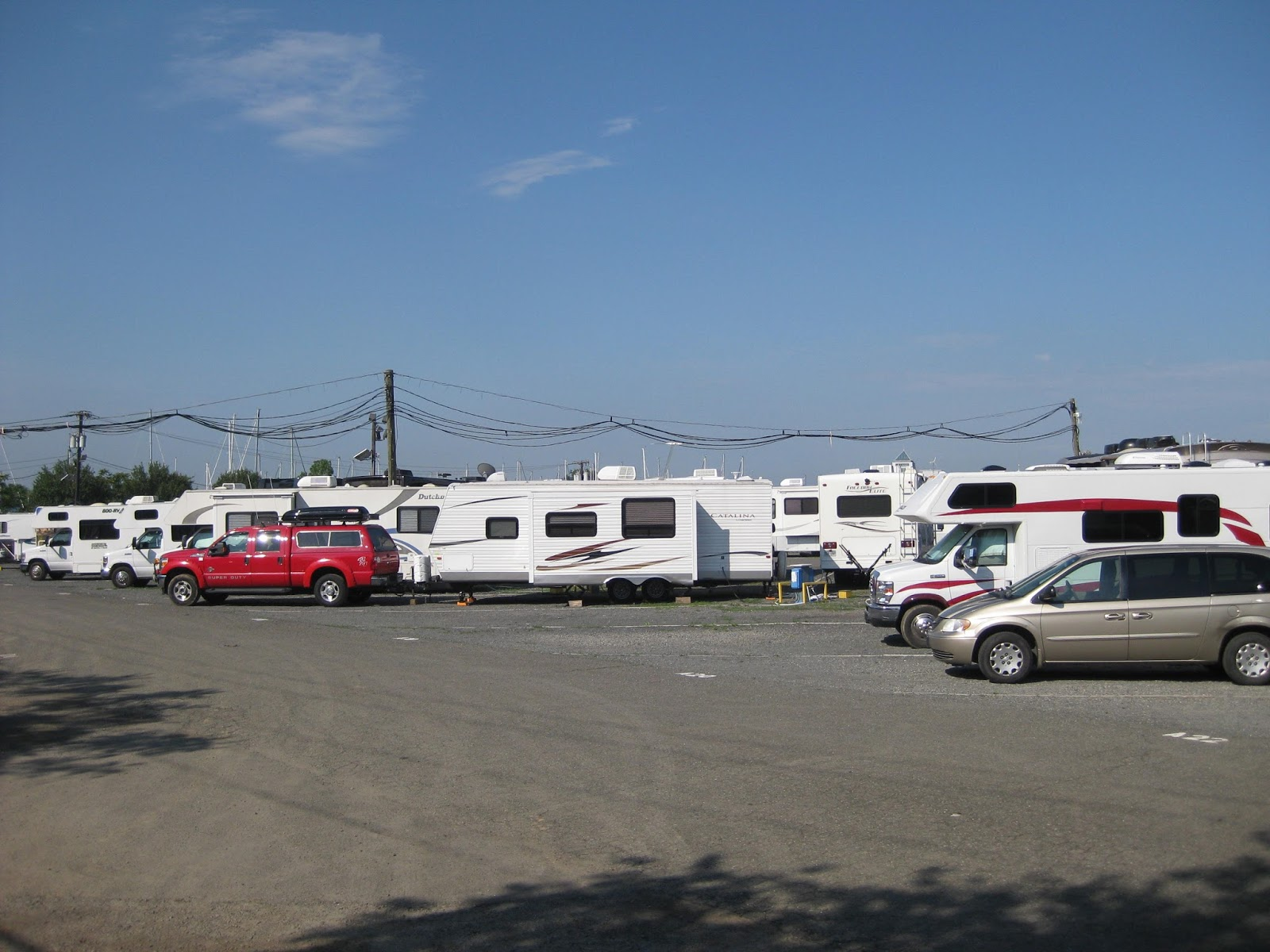 Considering location liberty harbor rv park is an excellent choice for rvers who desire to spend a few days in new york city we were expecting parking lot