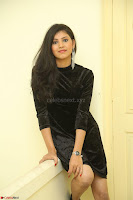 Mounika in a velvet short black dress for Tick Tack Movie Press Meet March 2017 078.JPG