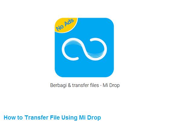 cara mengirim file dengan mi drop
