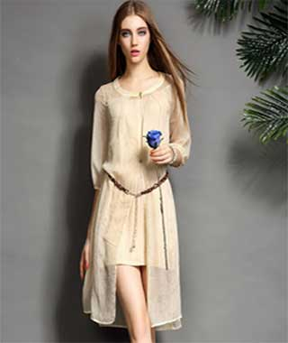 Model baju casual dress wanita