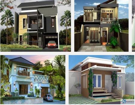 contoh bentuk model desain rumah minimalis 1 & 2 lantai