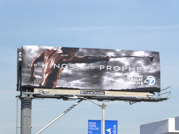 Of Kings and Prophets series premiere billboard