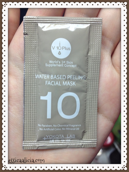 Review : V10 Plus Water-based Peeling Facial Mask by Jessica Alicia
