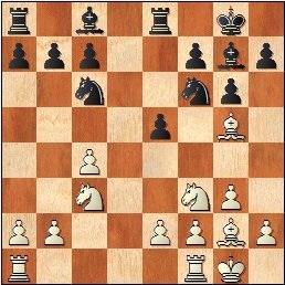 I Torneo Internacional de Terrassa 1960, partida Ridameya-Francino tras 10…Te8