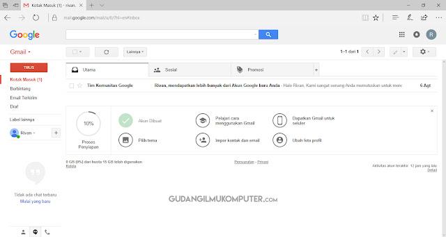 Cara Masuk Gmail di Komputer