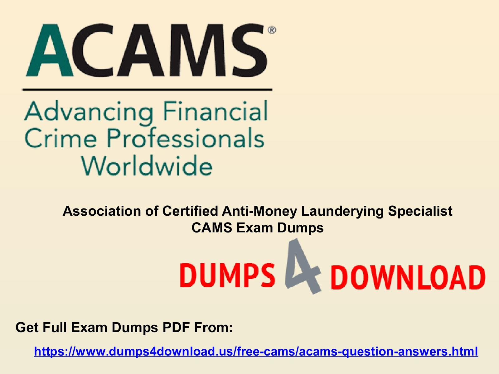 Cams Exam Dumps Question