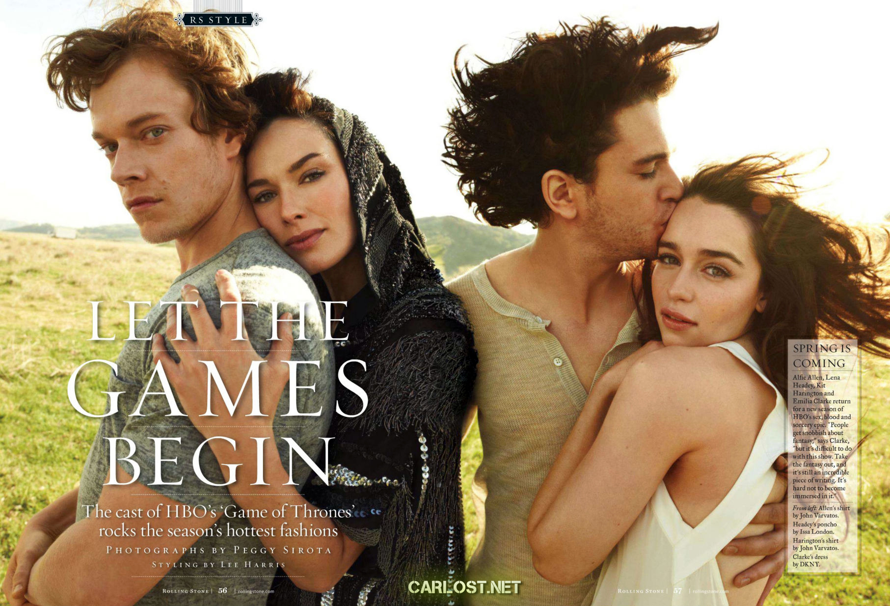Game of Thrones - Rolling Stone Magazine Photoshoot