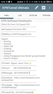Config Kpn Tunnel Ultimate Three 0pok / Sawer SSH Selamanya
