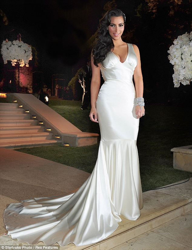 Kim Kardashian Wedding Reception Dress