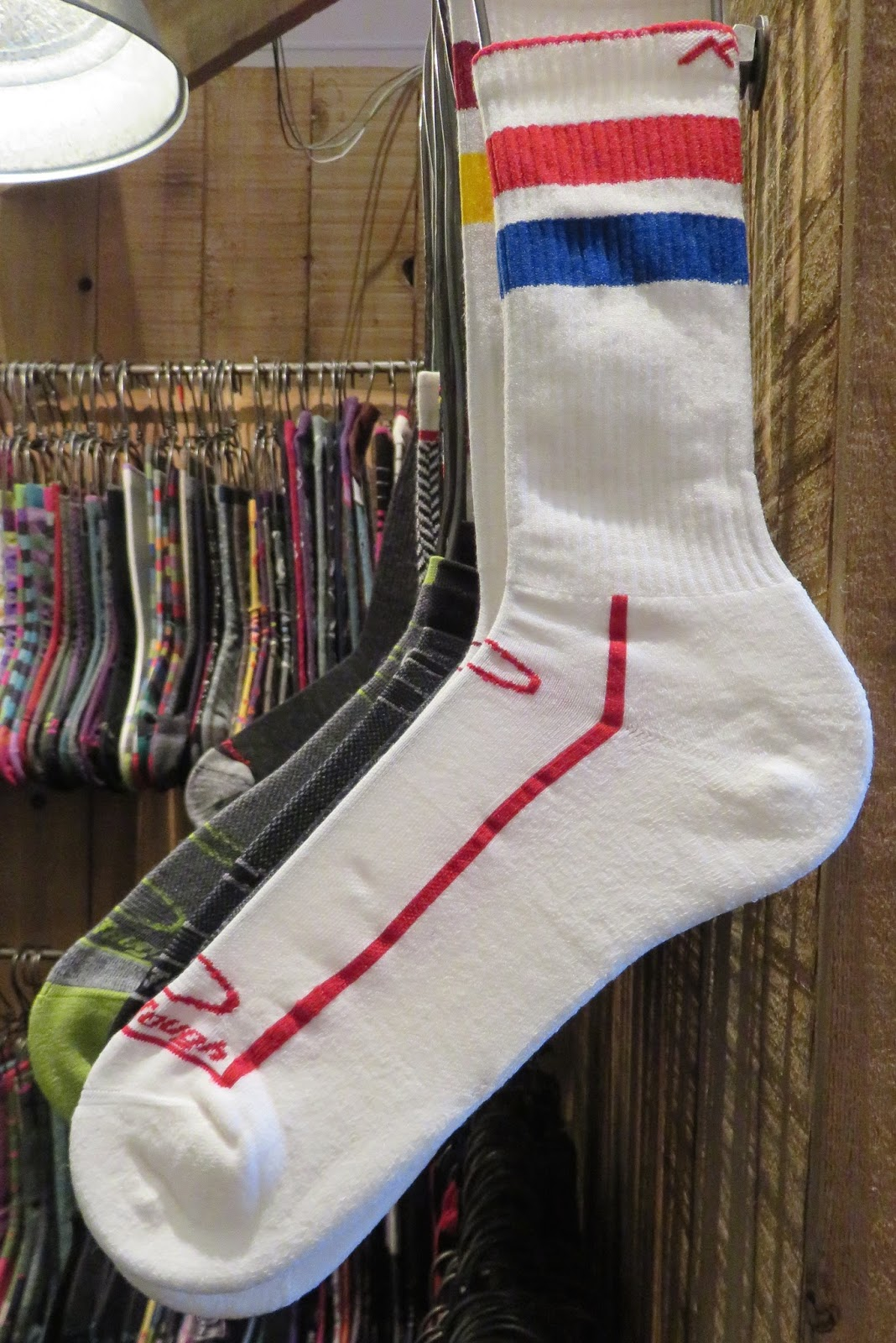 d98c9be8f Made in Vermont-DARN TOUGH s micro fine 17.2 micron merino wool (40%)  -guaranteed for life...Dynamite Stripe Crew Light Cushion-seamless  construction and ...