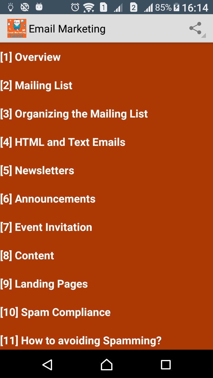 Email marketing guide app learning contents 1 overview 2 mailing list 3 organizing the mailing list 4 html and text emails 5 newsletters 6 announcements 7 event invitation baditri Choice Image