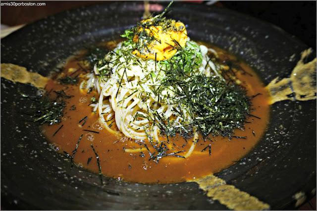 Unisoba en el Restaurante Japonés Sakagura de Nueva York