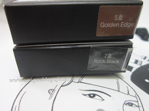 Glam Rock Urban Shadow #5 (Golden Edge) and #7 (Rock Black)