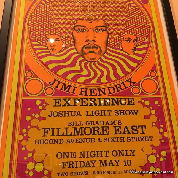 Jimi Hendrix poster at Bill Graham show at Contemporary Jewish Museum in San Francisco