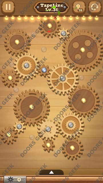 Fix it: Gear Puzzle [TapeLine] Level 36 Solution, Cheats, Walkthrough for Android, iPhone, iPad and iPod
