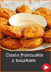 Ciasto francuskie z boczkiem ślimaczki z francuskiego