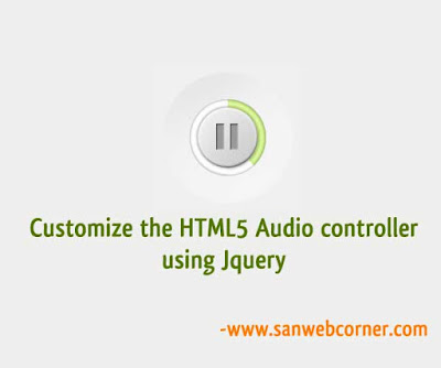 Customize the HTML5 Audio controller using Jquery
