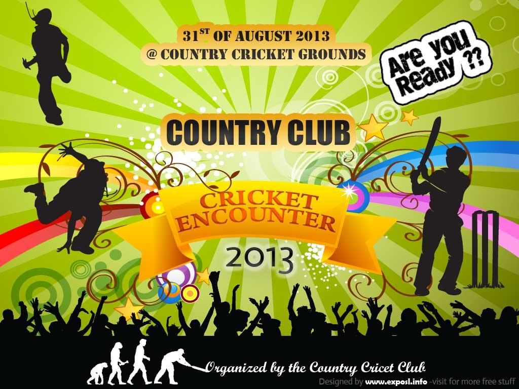 Cricket Tournament Anouncment Wording: Twengineer: Free Events Banner Vector