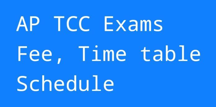 Tcc Calendar 2022.Ap Tcc Time Table 2021 Ttc Technical Certificate Course Exam Date