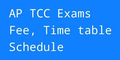 AP TCC/TTC Time Table 2019, Technical Certificate Course