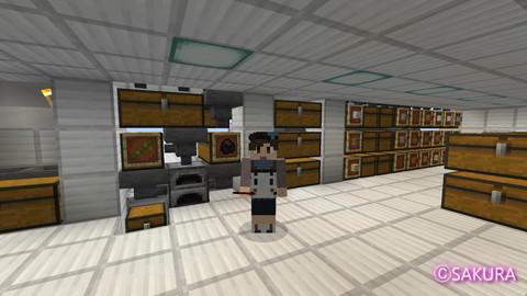 Minecraft 仕分け倉庫の自動かまど