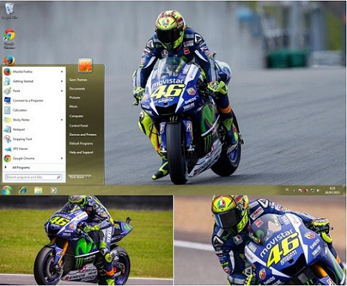 Tema Windows Valentino Rossi MotoGP 2015