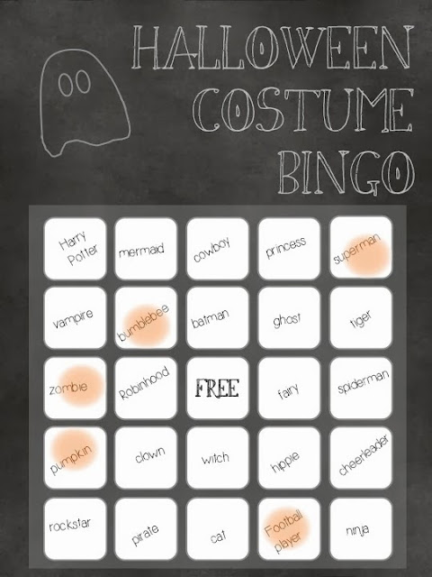 Halloween Costume Bingo- lemonthistle.blogspot.com