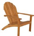 Three Birds Casual Adirondack Teak Chair