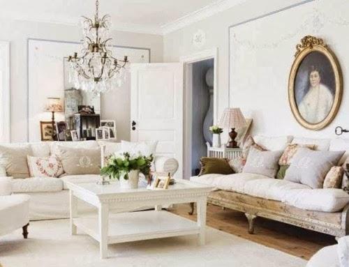 salón vintage blanco