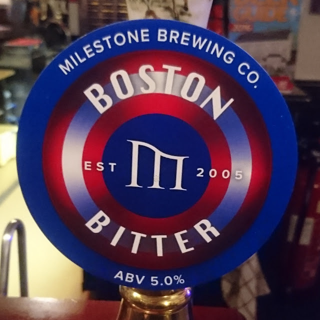 Boston Bitter from Milestone Brewing pumpclip
