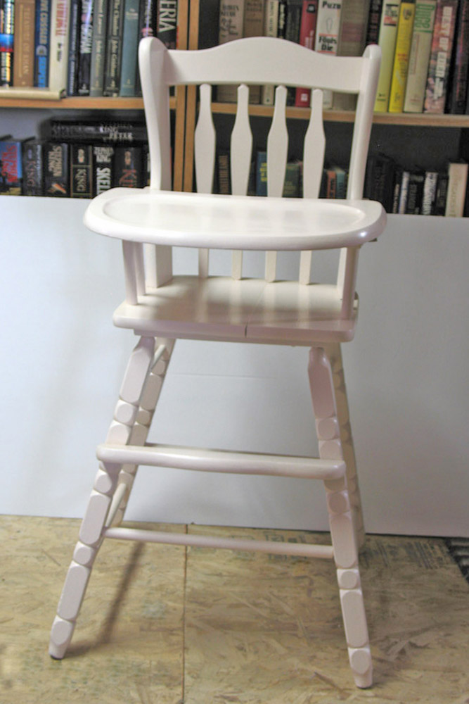 vintage wood high chair foldable with canopy i love to op shop bump score from ablurk sold for 45