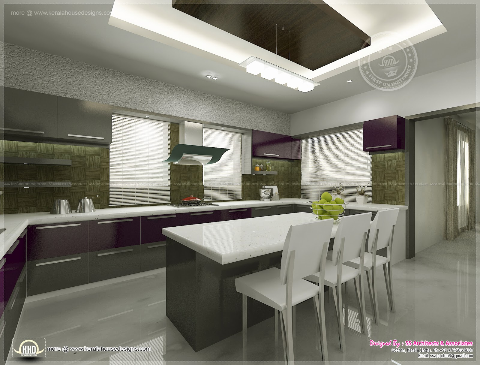 Kitchen interior views by SS Architects