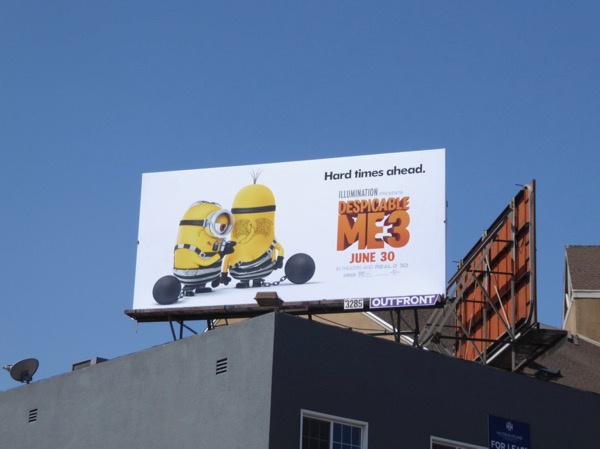 Despicable Me 3 movie billboard