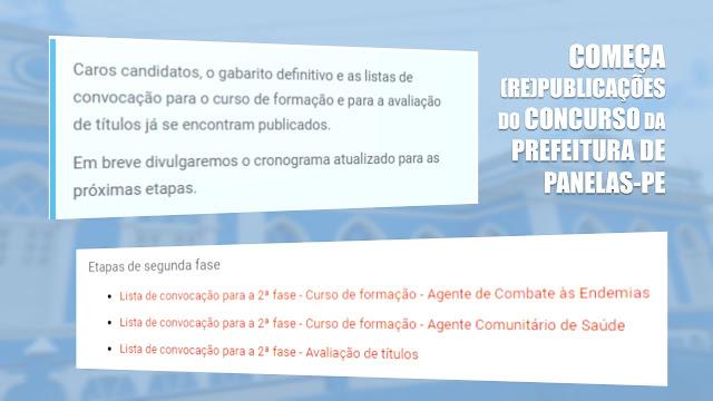 Organizadora do Concurso Público de Panelas-PE republica gabarito definitivo e lista dos convocados