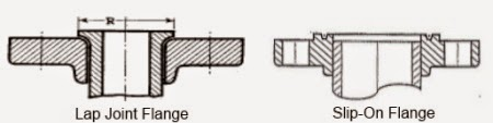 Jenis Flange Tipe slip-on dan lap joint