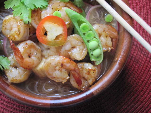 Stirring The Pot Asian Shrimp Noodle Soup With Homemade Shrimp Stock